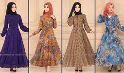 2020 Modaselvim Şifon Tesettür Elbise Modelleri 8 | Moda Selvim Şifon Elbise Modelleri - Kleid