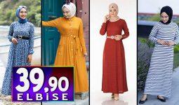 Tesettür Pazarı 39,90 TL Elbise Modelleri 1 | Kampanya İndirim Tesettür Elbise Modelleri