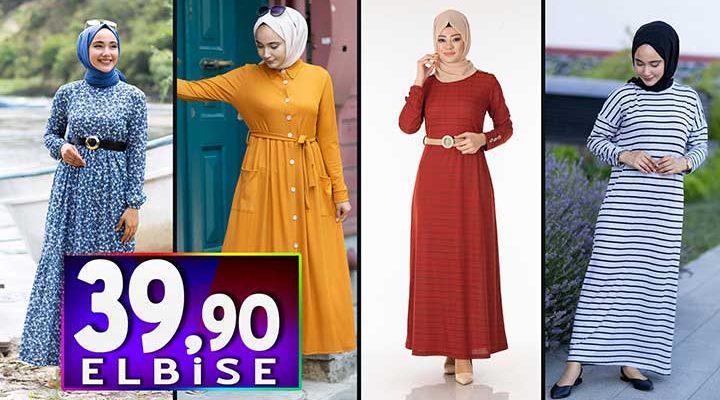Tesettür Pazarı 39,90 TL Elbise Modelleri 1   Kampanya İndirim Tesettür Elbise Modelleri