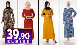 Tesettür Pazarı 39,90 TL Elbise Modelleri 2 | Kampanya İndirim Tesettür Elbise Modelleri