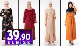 Tesettür Pazarı 39,90 TL Elbise Modelleri 4 | Kampanya İndirim Tesettür Elbise Modelleri
