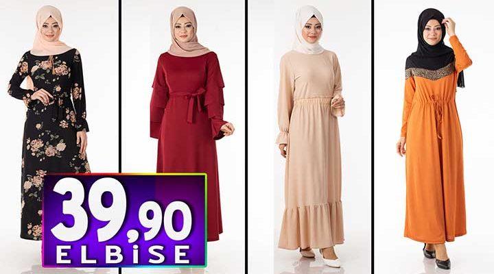 Tesettür Pazarı 39,90 TL Elbise Modelleri 4   Kampanya İndirim Tesettür Elbise Modelleri