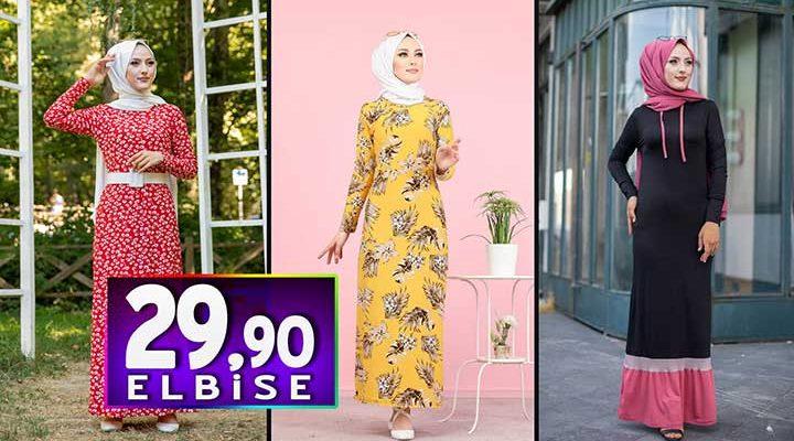 Tofisa 29,90 TL Elbise Modelleri 1 | Kampanya İndirim Ucuz Tesettür Elbise Modelleri