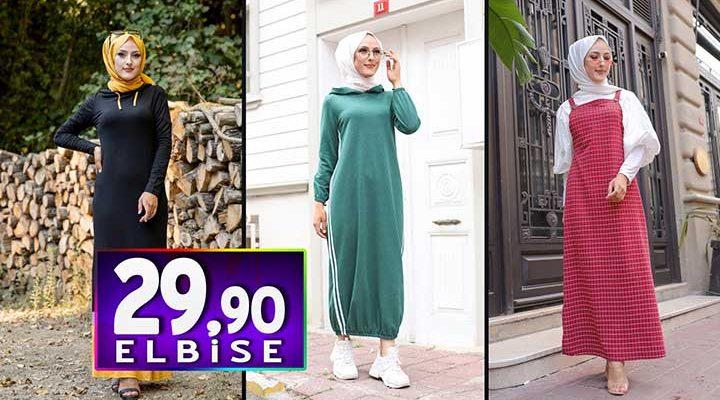 Tofisa 29,90 TL Elbise Modelleri 2   Kampanya İndirim Ucuz Tesettür Elbise Modelleri