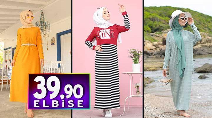 Tofisa 39,90 TL Elbise Modelleri | 2020 'nin En Trend Tesettür Elbise Modelleri
