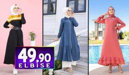 Tofisa 49,90 TL Elbise Modelleri | 2020 'nin Popüler Tesettür Elbise Modelleri