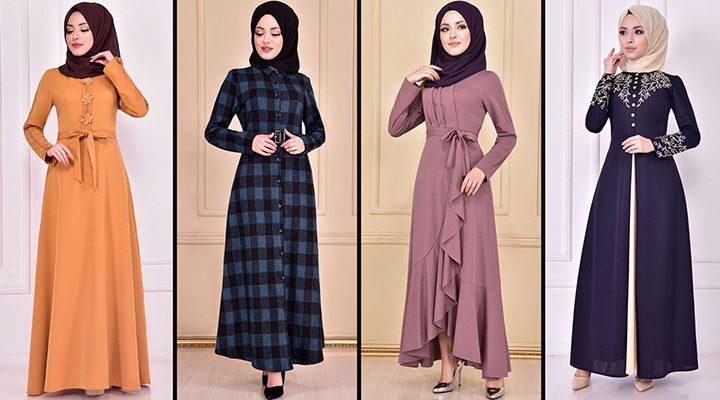 2021 Günlük Tesettür Elbise Modelleri 1 ( Moda Merve Günlük Elbise Modelleri 2021)