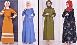 2021 Günlük Tesettür Elbise Modelleri 3 ( Moda Merve Günlük Elbise Modelleri 2021)