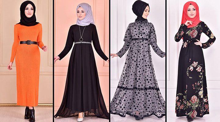 2021 Günlük Tesettür Elbise Modelleri 4 ( Moda Merve Günlük Elbise Modelleri 2021)