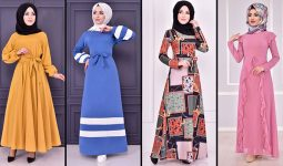 2021 Günlük Tesettür Elbise Modelleri 5 ( Moda Merve Günlük Elbise Modelleri 2021)