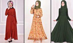 Yeni Sezon ModaMerve Şifon Tesettür Elbise Modelleri 10 | Chiffon Dresses - Chiffon Kleid