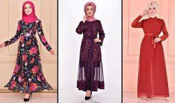 Yeni Sezon ModaMerve Şifon Tesettür Elbise Modelleri 9 | Chiffon Dresses - Chiffon Kleid