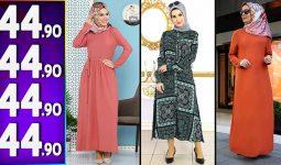 Modanoiva 44,90 TL Elbise Modelleri | 2020 Popüler Modanoiva Tesettür Elbise Modelleri