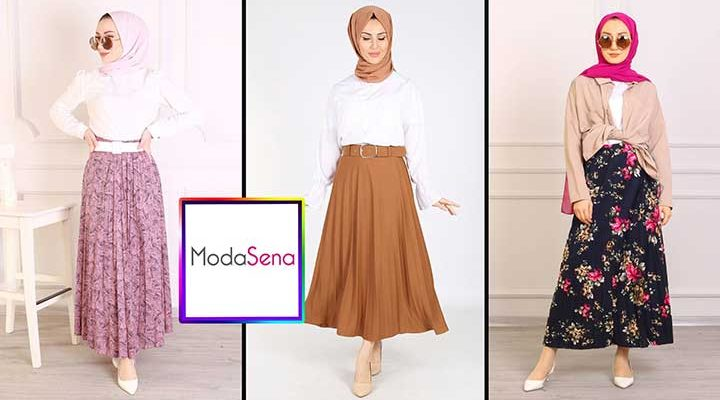 Moda Sena Yeni Sezon (Sonbahar) Tesettür Etek Modelleri ve Fiyatları 1 | ModaSena Etek Modelleri