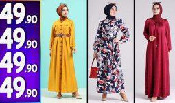 Sefamerve 49,90 TL Elbise Modelleri 1 | Yeni Sefamerve Kampanya İndirim Tesettür Elbise Modelleri