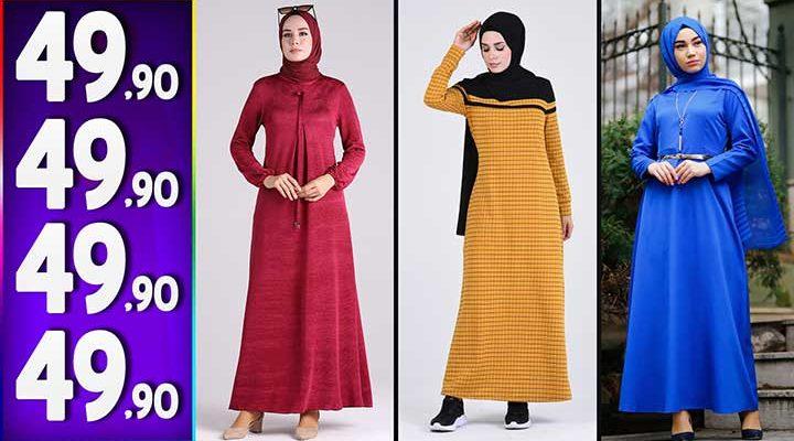 Sefamerve 49,90 TL Elbise Modelleri 3   Yeni Sefamerve Kampanya İndirim Tesettür Elbise Modelleri