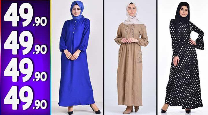 Sefamerve 49,90 TL Elbise Modelleri 6   Yeni Sefamerve Kampanya İndirim Tesettür Elbise Modelleri