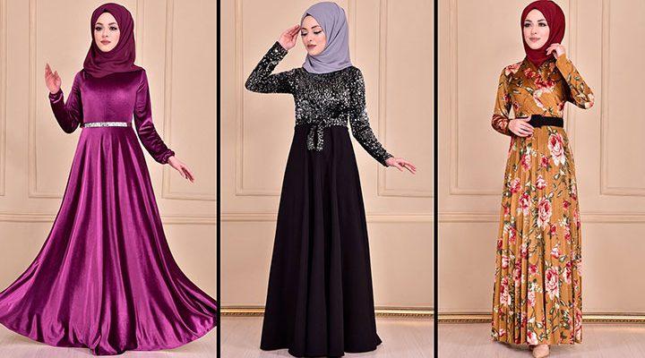 Modamerve 2021 Kadife Tesettür Elbise Modelleri 1   2021 Trend Tesettür Elbise Modelleri