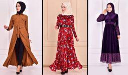 Modamerve 2021 Kadife Tesettür Elbise Modelleri 3 | 2021 Trend Tesettür Elbise Modelleri