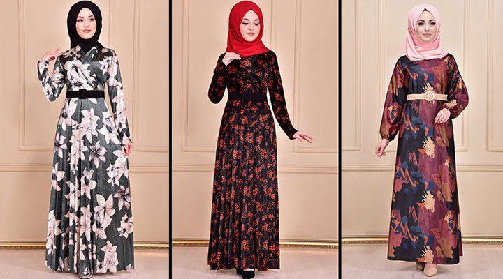 Modamerve 2021 Kadife Tesettür Elbise Modelleri 5   2021 Trend Tesettür Elbise Modelleri