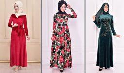 Modamerve 2021 Kadife Tesettür Elbise Modelleri 6 | 2021 Trend Tesettür Elbise Modelleri