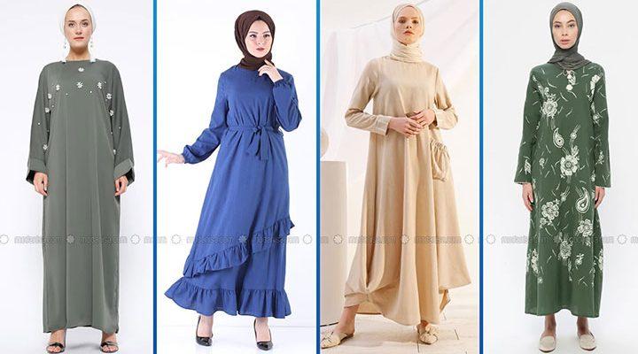 2021 Günlük Tesettür Elbise Modelleri 4 ( Modanisa Günlük Elbise Modelleri 2021)