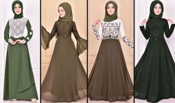 2021 Şifon Haki Tesettür Abiye Elbise Modelleri ( Moda Merve Abiye Modelleri 2021)