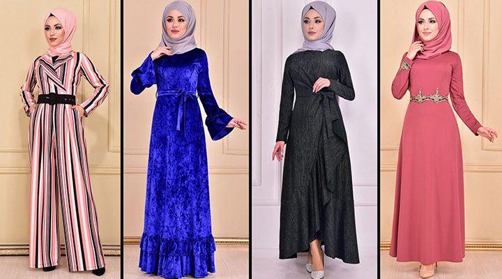 2021 Günlük Tesettür Elbise Modelleri 10 ( Moda Merve Günlük Elbise Modelleri 2021)