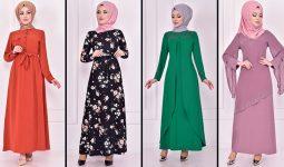 2021 Günlük Tesettür Elbise Modelleri 6 ( Moda Merve Günlük Elbise Modelleri 2021)