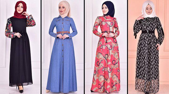 2021 Günlük Tesettür Elbise Modelleri 7 ( Moda Merve Günlük Elbise Modelleri 2021)