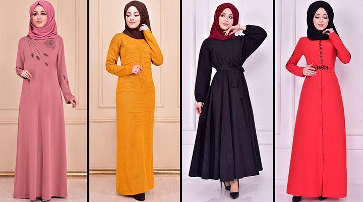 2021 Günlük Tesettür Elbise Modelleri 8 ( Moda Merve Günlük Elbise Modelleri 2021)