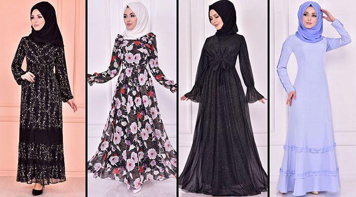 2021 Günlük Tesettür Elbise Modelleri 9 ( Moda Merve Günlük Elbise Modelleri 2021)
