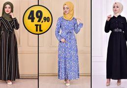 ModaMerve 49,90 TL Ucuz Günlük Tesettür Elbise Modelleri 5 | Modamerve Elbise Modelleri 2021