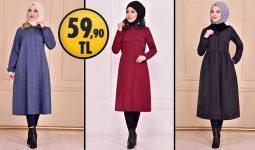 ModaMerve 59,90 TL İndirimli Tesettür Kaban Modelleri [ 2021 Kış Sezonu ] | Most Fashionable Coats