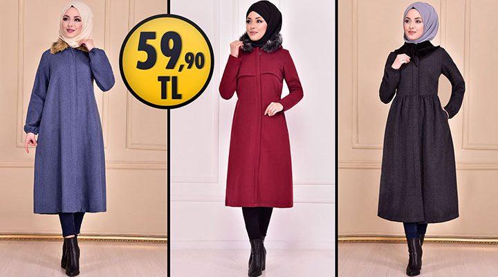 ModaMerve 59,90 TL İndirimli Tesettür Kaban Modelleri [ 2021 Kış Sezonu ]   Most Fashionable Coats