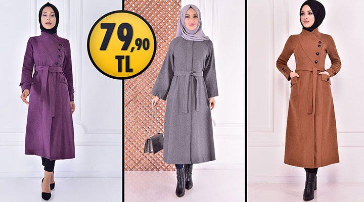 ModaMerve 79,90 TL İndirimli Tesettür Kaban Modelleri 1 [ 2021 Kış Sezonu ]   Most Fashionable Coats