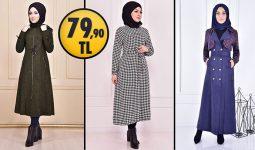 ModaMerve 79,90 TL İndirimli Tesettür Kaban Modelleri 2 [ 2021 Kış Sezonu ] | Most Fashionable Coats