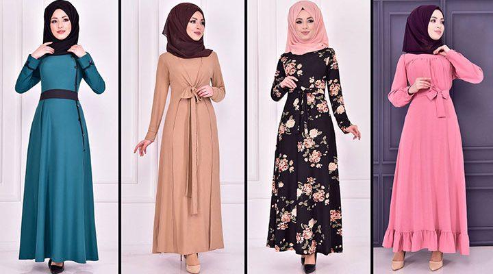 2021 Günlük Tesettür Elbise Modelleri 11 ( Moda Merve Günlük Elbise Modelleri 2021)