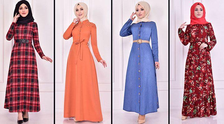 2021 Günlük Tesettür Elbise Modelleri 12 ( Moda Merve Günlük Elbise Modelleri 2021)