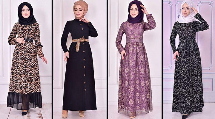2021 Günlük Tesettür Elbise Modelleri 14 ( Moda Merve Günlük Elbise Modelleri 2021)