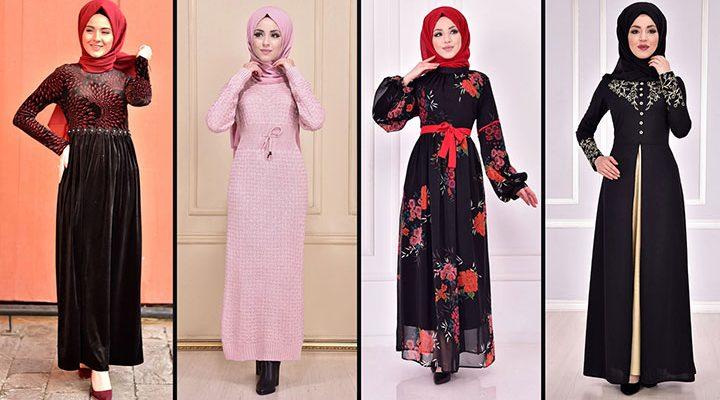 2021 Günlük Tesettür Elbise Modelleri 15 ( Moda Merve Günlük Elbise Modelleri 2021)