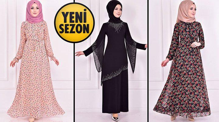 Yeni Sezon ModaMerve Günlük Şifon Tesettür Elbise Modelleri 16 | Chiffon Dresses - Chiffon Kleid