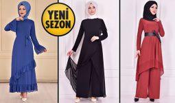 Yeni Sezon ModaMerve Günlük Şifon Tesettür Elbise Modelleri 17 | Chiffon Dresses - Chiffon Kleid