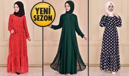 Yeni Sezon ModaMerve Günlük Şifon Tesettür Elbise Modelleri 18 | Chiffon Dresses - Chiffon Kleid