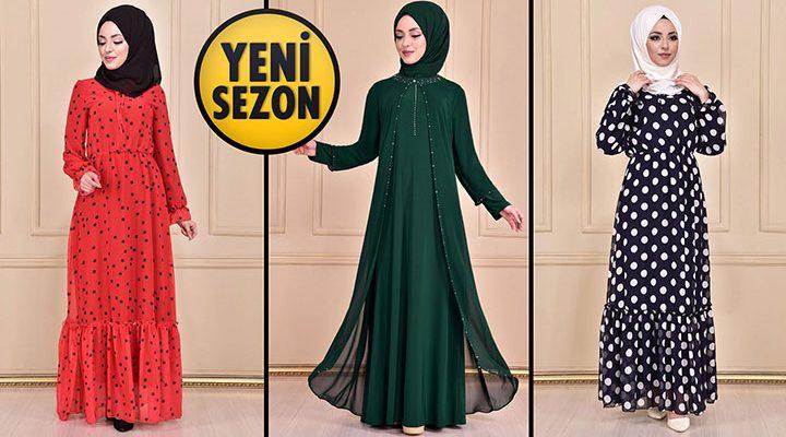 Yeni Sezon ModaMerve Günlük Şifon Tesettür Elbise Modelleri 18   Chiffon Dresses - Chiffon Kleid