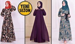 Yeni Sezon ModaMerve Günlük Şifon Tesettür Elbise Modelleri 19 | Chiffon Dresses - Chiffon Kleid