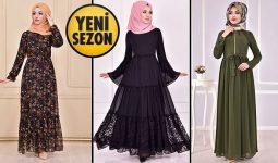 Yeni Sezon ModaMerve Günlük Şifon Tesettür Elbise Modelleri 20 | Chiffon Dresses - Chiffon Kleid