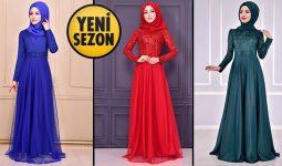 ModaMerve Simli Tesettür Elbise Modelleri 2 [2021 Kış] | Yeni Sezon Simli Elbise Modelleri 2021