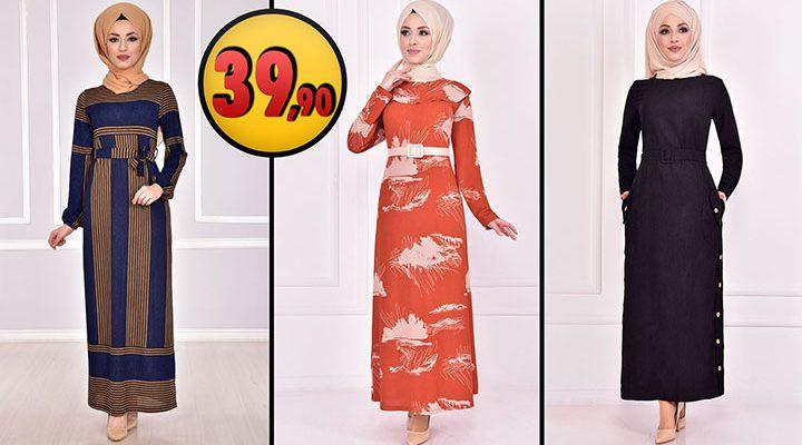 ModaMerve 39,90 TL Günlük Tesettür Elbise Modelleri 2 [2021 OCAK] | Modamerve Elbise Modelleri 2021