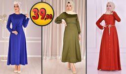 ModaMerve 39,90 TL Günlük Tesettür Elbise Modelleri 5 [2021 OCAK] | Modamerve Elbise Modelleri 2021